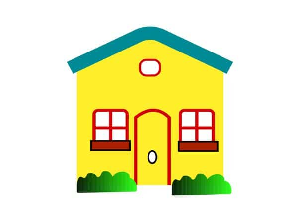 house clipart, yellow house clipart