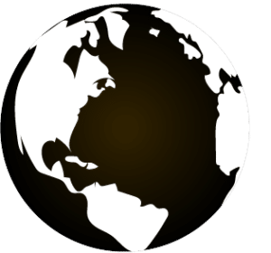 black and white earth clipart PNG