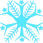 blue snowflake clipart no background
