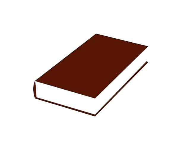 book clipart dark red and white