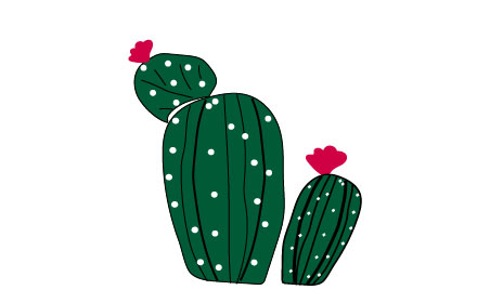 cactus clipart with flower