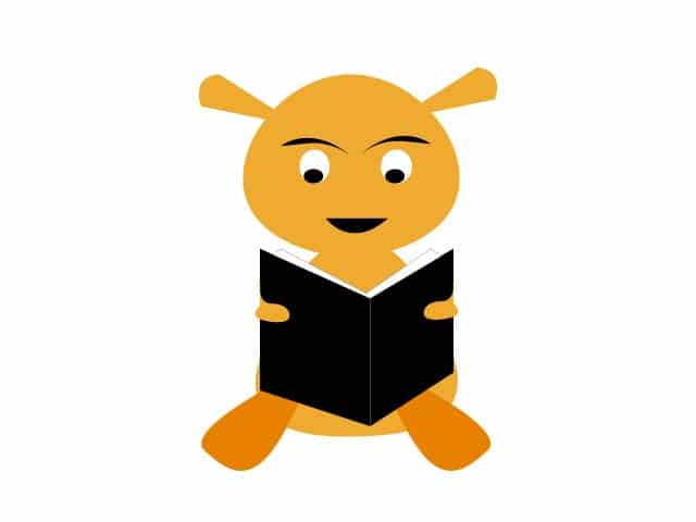 child reading book clipart,