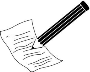 paper pencil clipart black and white