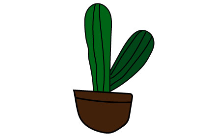 potted cactus clipart