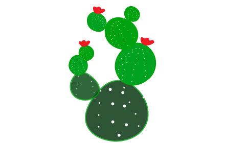 prickly pear cactus clipart png