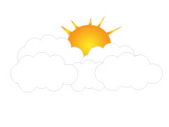 sun and cloud clipart