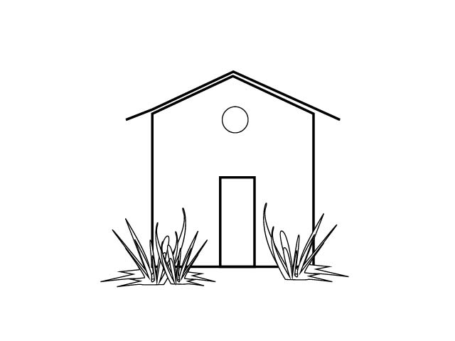 Download white house clipart black and white