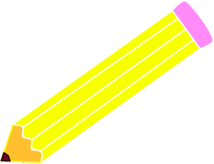 yellow pencil clipart png