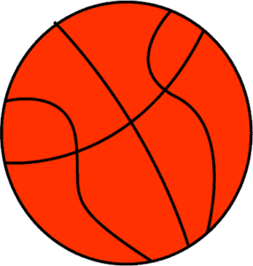 red basketball clipart