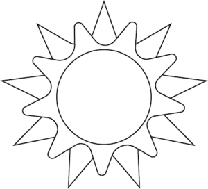 black and white sun clipart png