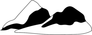 mountain clipart black and white