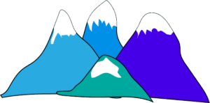 simple mountain clipart