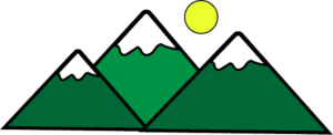now capped mountain clipart