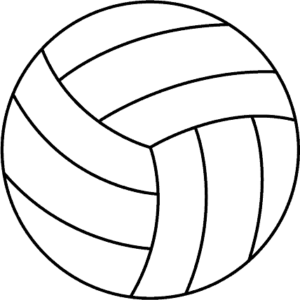 white volleyball clipart