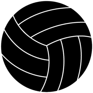black volleyball clipart