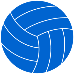 blue volleyball clipart