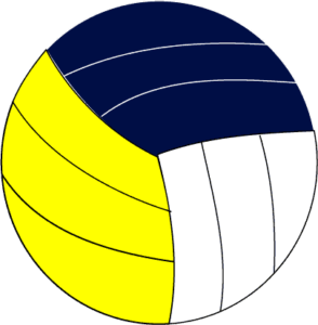 simple volleyball clipart