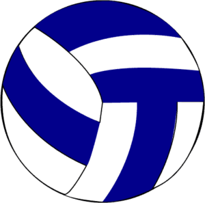 blue white volleyball clipart