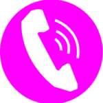 Download pink phone icon free - icon, vector