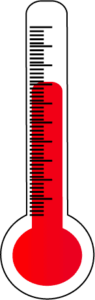 hot thermometer clipart