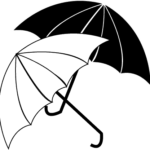 umbrella clipart black and white Download Now