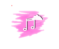 music icons aesthetic pink