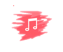 music icons aesthetic red