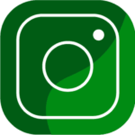 Green Instagram icon - download now