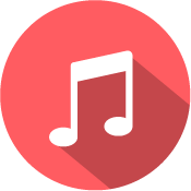 music icon red white