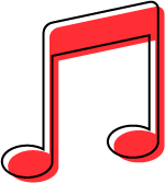 music icon red