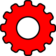 setting icon red