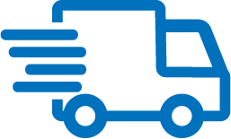 blue delivery icon