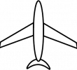 blank airplane icon
