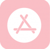 app store icon aesthetic pink