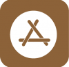 app store icon aesthetic brown