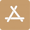 brown app store icon aesthetic