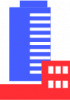 flat commercial building icon