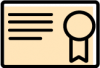 aesthetic certificate icon