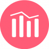 pink chart icon