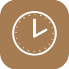 clock icon aesthetic brown