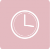 pink clock icon aesthetic