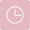 clock icon aesthetic pink