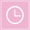 aesthetic clock icon pink