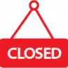 closed icon red