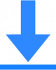 blue download icon png