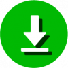 download icon png white green