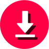 pink download icon png