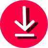 pink download icon