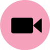 facetime icon aesthetic pink