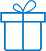 gift icon blue